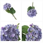 Floral Elegance Artificial 87cm Single Stem Purple Mophead Hydrangea Flowers x 6