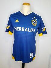 Los Angeles Galaxy LA Adidas Jersey Herbalife Size M Away MLS Blue