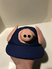 Vtg Dingbat Pig Hat Snapback Baseball Nose Snout Ears Tail 1979 Milmore 70s