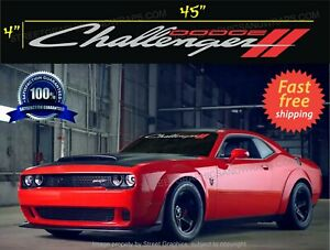 DODGE CHALLENGER WINDSHIELD banner CAR Decal sticker