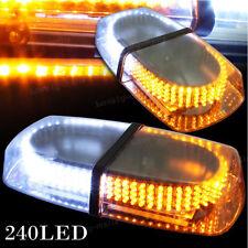 NEWEST Amber White 240 LED Bar Truck Strobe Warning Lamp Super Bright Lights