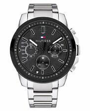 New Tommy Hilfiger Men's Decker Stainless Steel Silver Watch 1791564