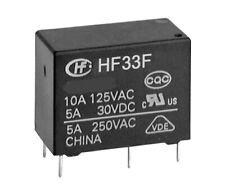 2 pcs. HF33F/012-HSL3F  HONGFA Relais  Relay  SPST-NO  12VDC  5A  720R NEW  #BP