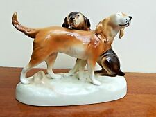 Royal Dux Working Dog Duo Figurine Setter/Pointer 303