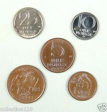 Norway coins set of 5 pieces UNC