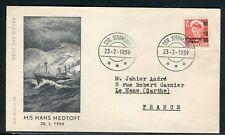 Groenland - Enveloppe pour la France en 1959 - ref D206
