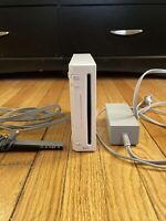 Nintendo Wii Game Console. Sensor + Cords. Gamecube Compatible Model. Modded.
