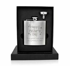 Personalised Stainless Steel Hip Flask Happy Fathers Day Gift - Gifts for Dad