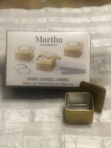 Martha Stewart Gold metal Favor Boxes / 10 per set/ 3 sets available. NEW
