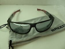Breed Stratus Sunglasses Sport Aluminum Frame Silver Polarized Lenses Men P $185