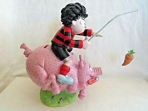 Dennis the Menace Resin Money Box Bank. Riding Pig. Beano. DC Comics. P Mook