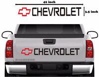 Chevy Bowtie Car Vinyl Decal Tailgate Sticker Truck Windshield Strip Graphics