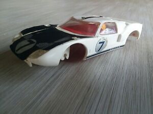Vintage Scalextric (Triang) Ford GT Slot Car, 1/32 BODY ONLY