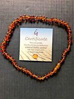 COLLAR DE ÁMBAR BÁLTICO DE 30 CM (DENTICIÓN) Certificate natural Baltic amber