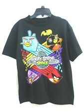 Angry Birds Space Black Boy's Tee T-Shirt Size YL