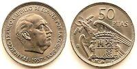 Spain-Estado Español - 50 Pesetas 1957*71 Madrid. SC/UNC. Niquel. 12,5 g. Escasa