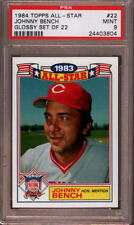 1984 TOPPS ☆ALL-STAR GLOSSY☆ # 22 JOHNNY BENCH ☆RARE☆ CINCINNATI REDS PSA 9 MINT