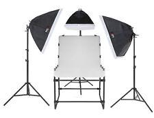 Foto-Aufnahmetisch SET AT-6090-3 12x150 W mit Galgen Fototisch Studiotisch