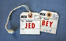 MEA  to Jeddah JED  & Beirut BEY 2 x   vintage  Baggage ID- Tags