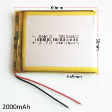 2000mAh Battery LiPo Polymer 3.7V For Tablet PC DVD GPS PAD mobile phone 505060