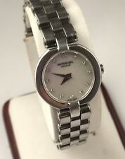 Original Raymond Weil Steel Mother Of Peal Diamond Dial Ladies Watch