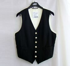 MOSCHINO Cheap and Chic vintage black white vest hotel formal waistcoat S M 46
