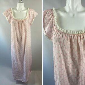 Vintage nightshirt ladies women Medium Large  nightgown pajamas fireman firefighter 80\u2019s