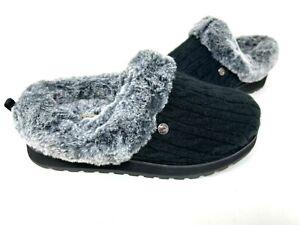 Skechers Women's Bobs Keepsakes Ice Angel Fuzzy Shoes Black #31204 Size:8.5 145G