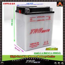 12N14-3A Replace 12V 14AH Motorbike Battery CB14LA1 CB14L-A2 CB14L-B2 YTX14AHLBS