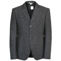 CARVEN $745 gray speckled chevron cotton wool sportcoat blazer jacket 42/52 NEW
