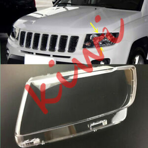 Left Side Transparent Headlight Cover + Glue Replace For Jeep Compass 11-16 WYQ