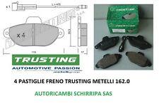 PASTIGLIE FRENO TRUSTING ANTERIORI FIAT PUNTO 1.2 8V II° SERIE BENZINA 188 44 KW