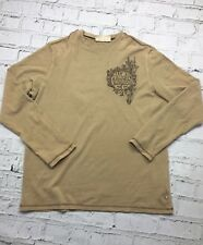ANIMAL - Beige Thin Long Sleeve Sweater Top - Mens - Size L