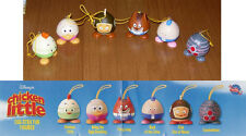 TOMY Gashapon COMPLETE SET 6 Figures CHICKEN LITTLE EGG-STRA FUN Danglers NEW