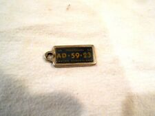 1954 Michigan Mini License Plate-Key Chain Reminder Tag AD 59 23