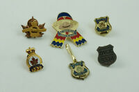 Lot of 6 Canadian RCMP Police Legion Pins Lapels