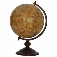 Large Vintage Globe Solid Wood Chestnut Finish Crafted By Hand Antique Effect