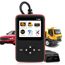 Heavy Duty Truck Scan Tool +OBD2 Vehicle Scanner DPF/Oil Reset Code Reader V500