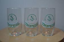 Lote de tres antiguos vasos de cerveza Tropical - Las Palmas de Gran Canaria