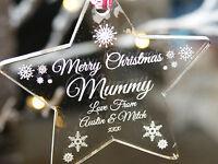 Acrylic Personalised Christmas Tree Decoration Bauble For your Mummy/Mum
