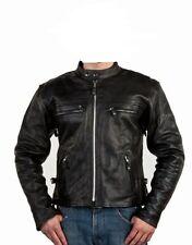 Mens Leather Motorcycle Biker Scooter Racing Premium Jacket