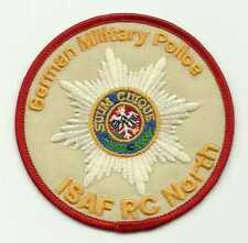 Insigne tissu, Patch AFGHANISTAN ISAF RC NORTH-GERMAN MILITARY POLICE