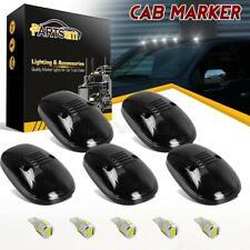 5xFor Dodge Ram 99-02 264145BK Smoke Cab Top Clearance Light+194 5730 White LEDs