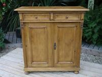 OLD ANTIQUE (VICTORIAN) STRIPPED PINE DRESSER BASE/SIDEBOARD/CUPBOARD/CABINET