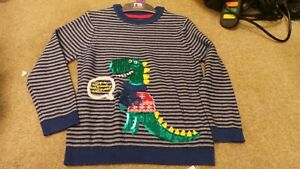 DINOSAUR JUMPER ' HAVE A ROARSOME CHRISTMAS ' 3-4 YEARS NEW WITH TAGS