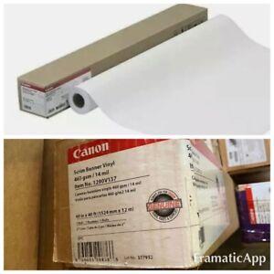 """Canon 1290V137 Scrim 60"""" X 40' Roll Banner Paper - Scrim Ban Vinyl Genuine Canon"""