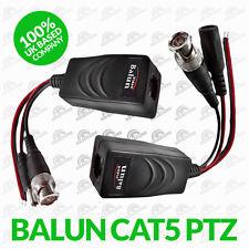 1 Pair BNC to RJ45 CAT5 Video Power Data Balun UTP Connector FOR CCTV PTZ CAMERA