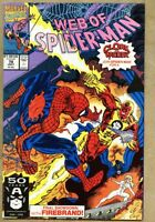 Web Of Spider-Man #78-1991 vf 8.0 SpiderMan Cloak and Dagger Firebrand