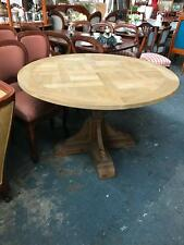 CIRCULAR OAK BORDEAUX DINING TABLE ON A PEDESTAL BASE  120 CM