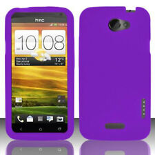 For AT&T HTC ONE X Rubber Soft Silicone Gel SKIN Case Phone Cover Dark Purple